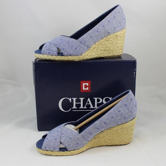 186cd7252ae Chaps Dakoda Women's Espadrille Wedges NWT
